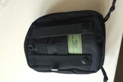 Mit dem MOLLE System kann ich die Tasche außen an den Rucksack befestigen, wenn ich den Platz im Rucksack für etwas anderes brauche.
