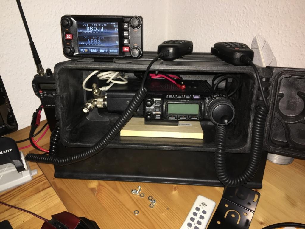 Die 1. Hälfte der Funkgeräte